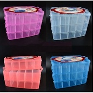 現貨2040 三層手提塑膠收納盒~隔層可改 三層收納盒 30格 可拆式工具盒(收藏積木 樂高 Tomica 模型車(145元)