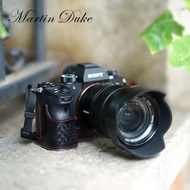 Martin Duke意大利牛皮 索尼A9相機包A7R3 A7RM3 A7iii皮套手柄  極客玩家  ATF