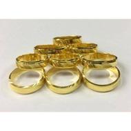 แหวนทองคำแท้ 96.5% น้ำหนักครึ่งสลึง 1.9 กรัม สินค้ามีใบรับประกัน