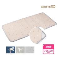 【GIO Pillow】智慧二合一有機棉超透氣嬰兒床墊(XM號70×120cm 透氣 床套可拆卸 可水洗防蹣)