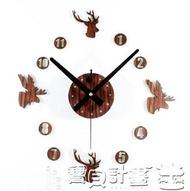 壁貼時鐘 歐式復古田園DIY粘貼墻壁時鐘靜音掛鐘簡約時尚創意個性客廳鐘表JD 寶貝計畫