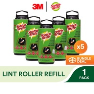 3M Scotch Brite Lint Roller Refill [836RF-30][Bundle of 5]