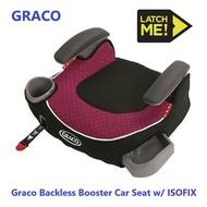 (現貨) 美國原廠 Graco Latch Isofix 紅色增高墊 安全座椅