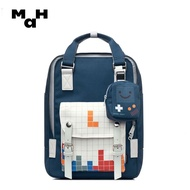 MAHกระเป๋านักเรียนหญิง,กระเป๋าเป้สะพายหลังความจุมากกระเป๋าเป้เดินทางเวอร์ชันเกาหลีอเนกประสงค์ขนาด14นิ้ว