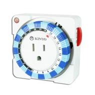 KINYO機械式定時器TM-2指撥式24小時多段定時器 3P接頭 電源指示燈 指撥設定【HA209】◎123便利屋◎