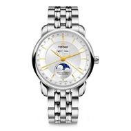 TITONI梅花錶大師系列天文台認證月相手錶 94588S-635 白41mm