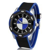 爆款寶馬標誌時尚潮流韓版休閒手錶 男士手錶 大錶盤矽膠手錶 運動腕錶手錶男生配件