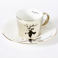 Luycho 韓國 鏡面倒影杯 咖啡杯 _ 麋鹿