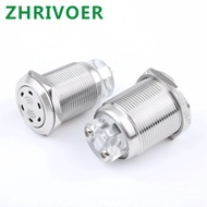 16Mm 19Mm 22MmสแตนเลสBuzzer LEDสีแดงโคมไฟIP66 IK09 Audible Warning Light 5V 12V 24V 220V
