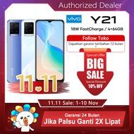【hp vivo terbaru 2021 promo murah】 Y21 8.0mm Ultra Slim I 4GB+1GB Extended RAM 5000mAh Battery 18W Fast Charge CameraGaransi Resmi vivo Indonesia 100% Ori COD Y12S Vivo