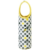 asdfkitty可愛家☆SNOOPY史努比灰色點點保溫保冷手提水壺袋/水壺套-日本正版商品