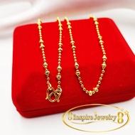 Inspire Jewelry สร้อยคอทองยาว 18 นิ้ว ตะขอตัวเอ็ม M  พร้อมกล่องตามแบบ สินค้าไม่มีจี้ ราคาเฉพาะสร้อยคอ
