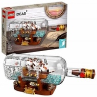LEGO 樂高 Ideas Ship in a Bottle 21313 Expert Collectible Display Set and Toy for Adults(962 Pieces)