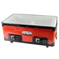 一鑫餐具【日本製 長方型炭烤爐 B-4】珪藻土日式燒肉爐木炭爐烤肉爐碳烤爐燒烤爐