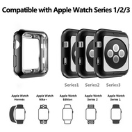 For Apple Watch Series 4 3 2 1 iWatch 38/42/40/44 Soft TPU Plating Bumper Case