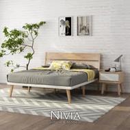 Nivia北歐實木雙人床架