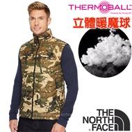 【美國 The North Face】男新款 ThermoBall 極輕量暖魔球防風科技羽絨背心(可機洗)登山滑雪/365Z 迷彩 N