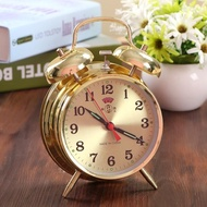 鬧鐘 超大聲音起床馬蹄錶鬧鐘機械老式復古懷舊全金屬機芯手動發條鬧鐘 下標免運