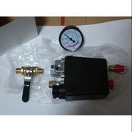空壓機 起動開關(按鈕式)/壓力表/卸壓閥(整組)