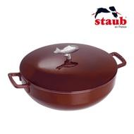 法國Staub 琺瑯鑄鐵魚鍋28cm-深紅色