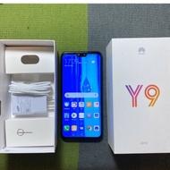 HUAWEI Y9 2019 64G 85成新 6.5吋 雙卡雙待 臉部辨識 指紋辨識 華為 二手機 中古機 銀幕有刮傷
