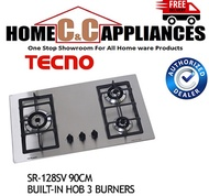 TECNO BUILT-IN HOB SR-128SV 90CM  3 BURNERS STAINLESS STEEL | Free delivery |