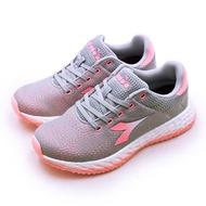 【女】DIADORA 迪亞多那 專業輕量避震慢跑鞋 ETPU彈力球系列 灰粉 31607