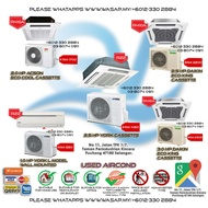 2.0HP to 3.0HP Daikin or Acson or York Cassette Type Aircond AC1923 / R22 / R410A / Non-Inverter Type