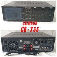 power amplifier Crimson Cr 735 original crimson CR 735 power amplifier Cr 735 Hitam