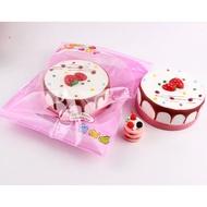 【現貨】♡瑕疵特價美味草莓慕斯蛋糕squishy 軟軟 水果蛋糕 慢回彈 麵包 饅頭