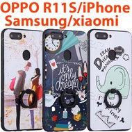 Lowest Price ring Holder case for OPPO R11S R11S Plus R11 R9S R9 iPhone X 8 7 6 CASING