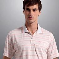 【Sunrise】77155純白點綴粉線條★吸濕排汗短袖POLO男版襯衫