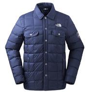 【美國 The North Face】男新款 DWR防潑水防風保暖外套(襯衫領).夾克.風衣/700蓬鬆度鵝絨填充/3L73 藍 N