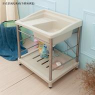 日式塑鋼洗衣槽(不鏽鋼腳架)1990元【JL精品工坊】洗衣槽 洗手台 洗碗槽 塑鋼水槽