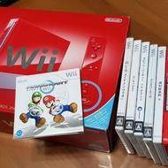 Wii 25週年紀念主機(內建第一代瑪莉歐) + 6片正版遊戲片 (二手保存良好)