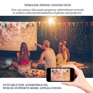 2.4G Mini Smart Wireless 4K HD WiFi Projector Remote Control