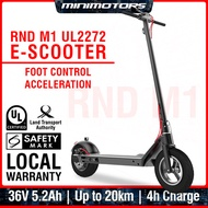★ Local UL2272 E-Scooter ★ RND M1 Foot Control Electric Scooter