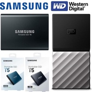 [Portable SSD] Samsung T5 Portable SSD 500G/ 1TB | WD MY PASSPORT SSD 500G/ 1TB