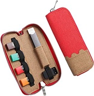 Wallee Portable Carrying Case Compatible for JUUL, Slim Shockproof Storage Bags with Pod Holder for JUUL (Red)
