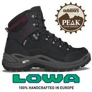 【LOWA 德國】Renegade GTX 標準版中筒防水登山鞋 女款 黑灰/深酒紅 (LW320945-9947)
