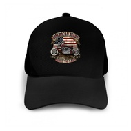 American Vintage Motorcycle Cap Hat Classic Bobber Made Usa Mens Smal
