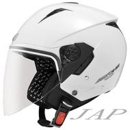 ASTONE RST 素色 白色 輕量四分之三 內墨鏡 半罩 安全帽