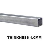 MILD STEEL (BESI) SQUARE HOLLOW TEBAL 1MM 1.2 MM 4ft 5ft 122cm 150cm