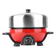Takada ISB-300 Stainless Steel Multi Cooker with Non-Stick BBQ Tray 3L
