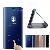 Smart Mirror View Case Huawei Nova 3 3E 3i 2i 4E Leather Stand Flip Cover Huawei Y5 Y6 Y9 Prime 2018 Honor 7A 7C Pro 8X lite P30