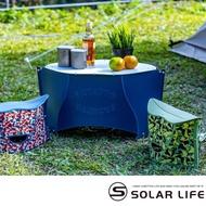 【PATATTO】日本可攜式輕量薄型露營摺疊桌 小 附收納袋(PATATTO桌露營桌野餐桌日本桌休閒折疊桌)