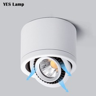 Dimmable Surface Mounted LED COB Downlight 5W/7W/9W/15W 18W LED Lamp 110V 220V Recessed Ceiling Spot Light square round