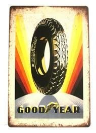 Goodyear Tires Tin Metal Sign Poster Vintage Style Man Cave Garage Good Year