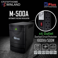 ❀MPlus 4 Outlets Automatic Voltage Regulator AVR with Surge Protector 1000VA/500W *WINLAND*