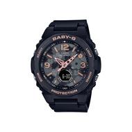 CASIO卡西歐 BABY-G 花卉風格雙顯手錶-黑 BGA-260FL-1A_42.4mm